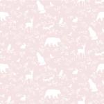 tapeta | forest animals pink