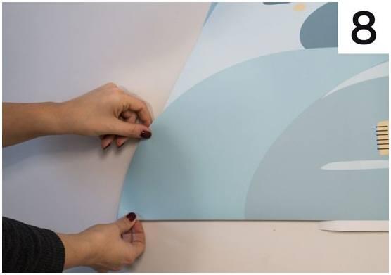 pastelowe love - jak nakleić naklejkę na ścianę